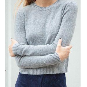 Brandy Melville Gracie Sweater Wool crewneck crop